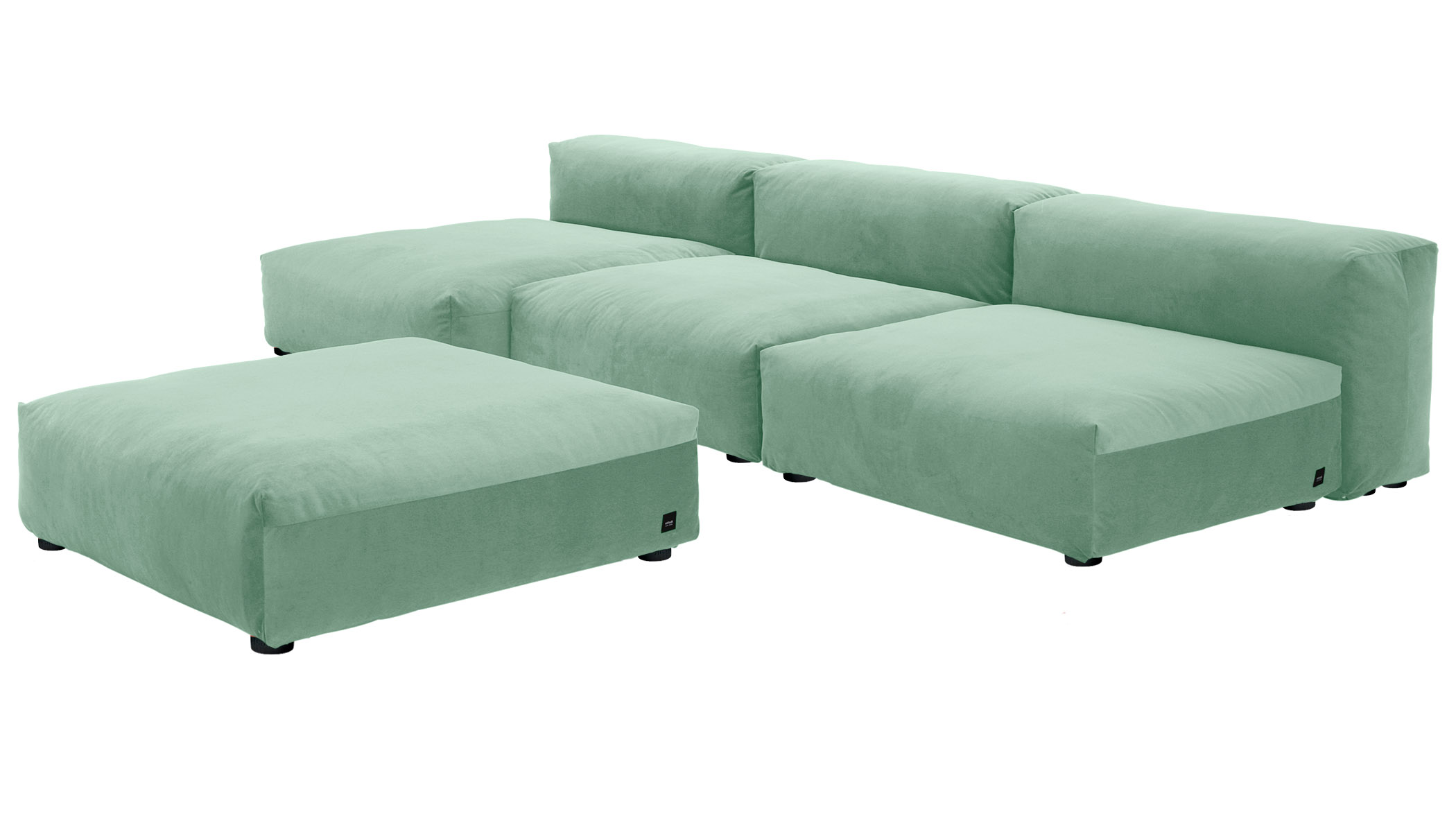 Sofa 1 Large 2 Medium 3 Side Velvet mint