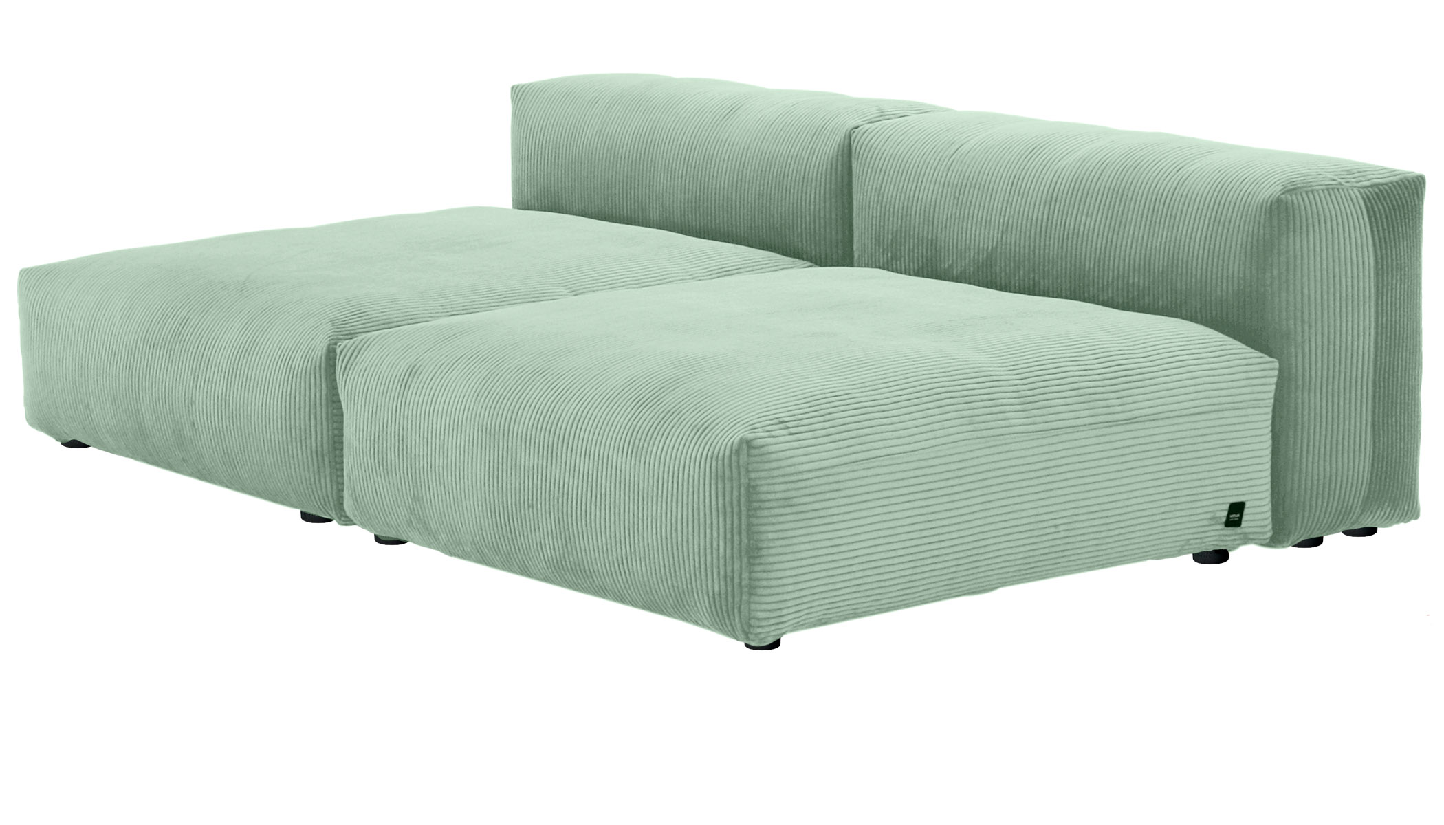 Sofa 2 Large 2 Side  Cord Velours duck egg