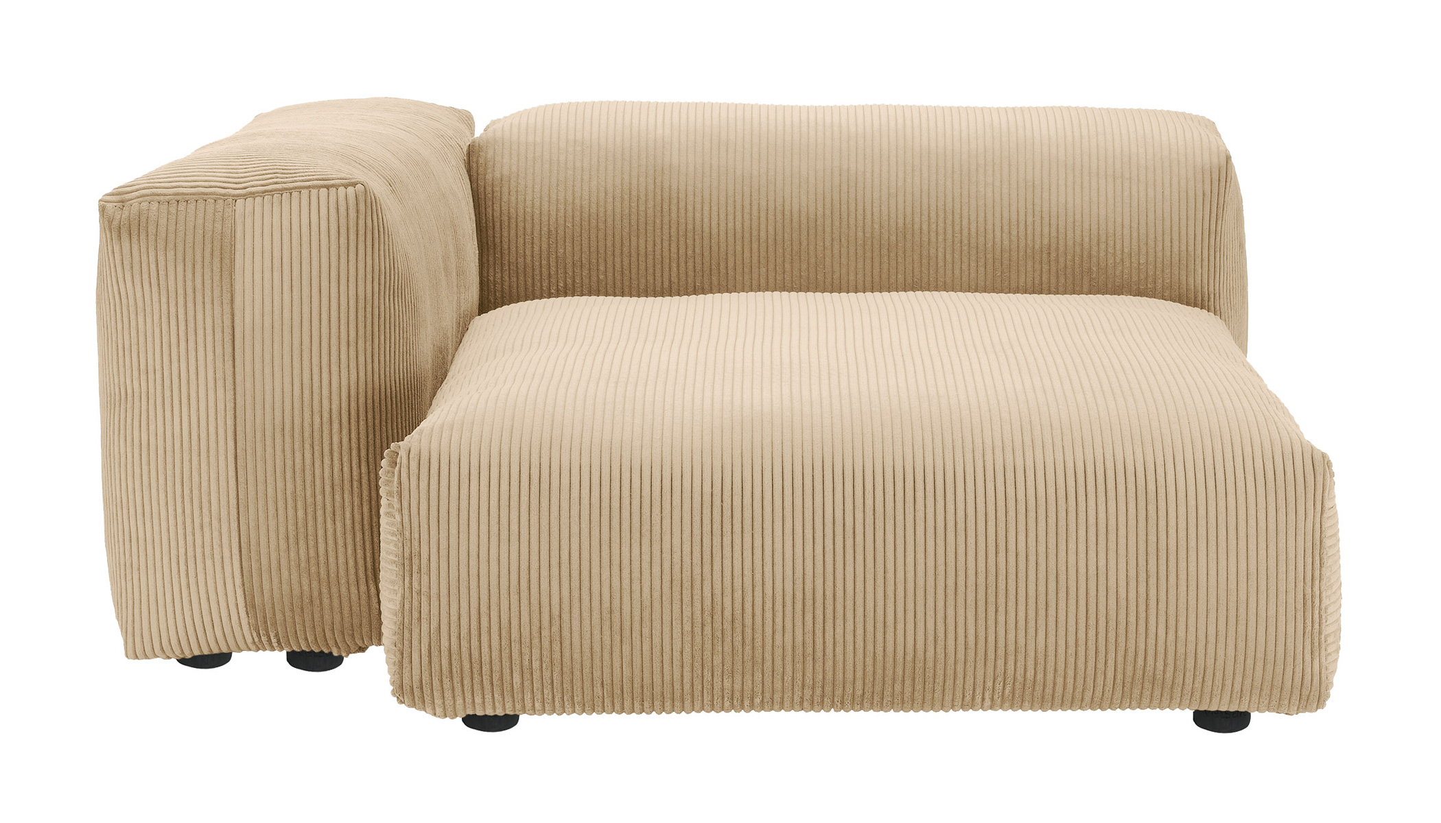 Sofa 1 Large 2 Side Cord Velours sand