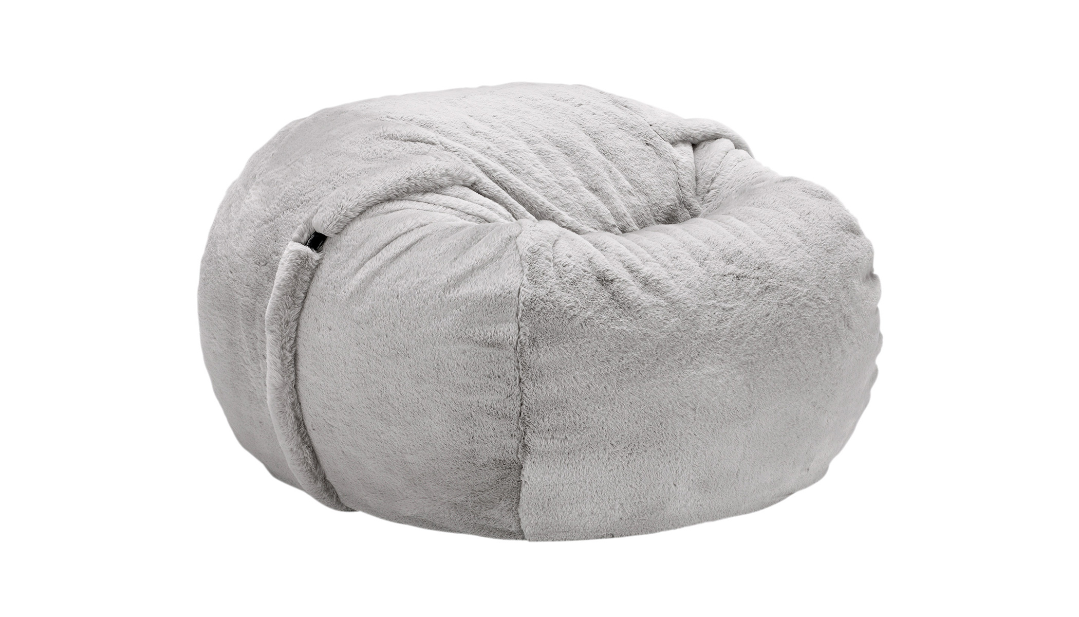 Beanbag Medium Faux Rabbit Fur grey Kopie