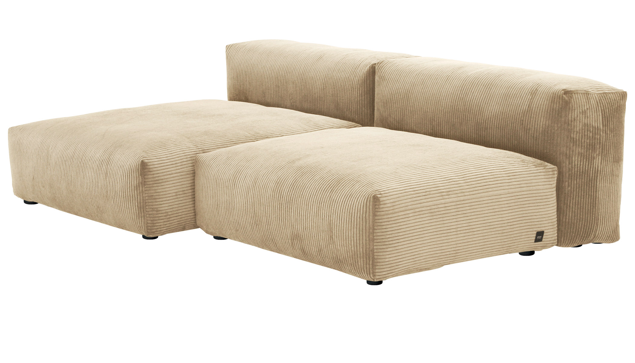 Sofa 2 Large 2 Side Cord Velours sand