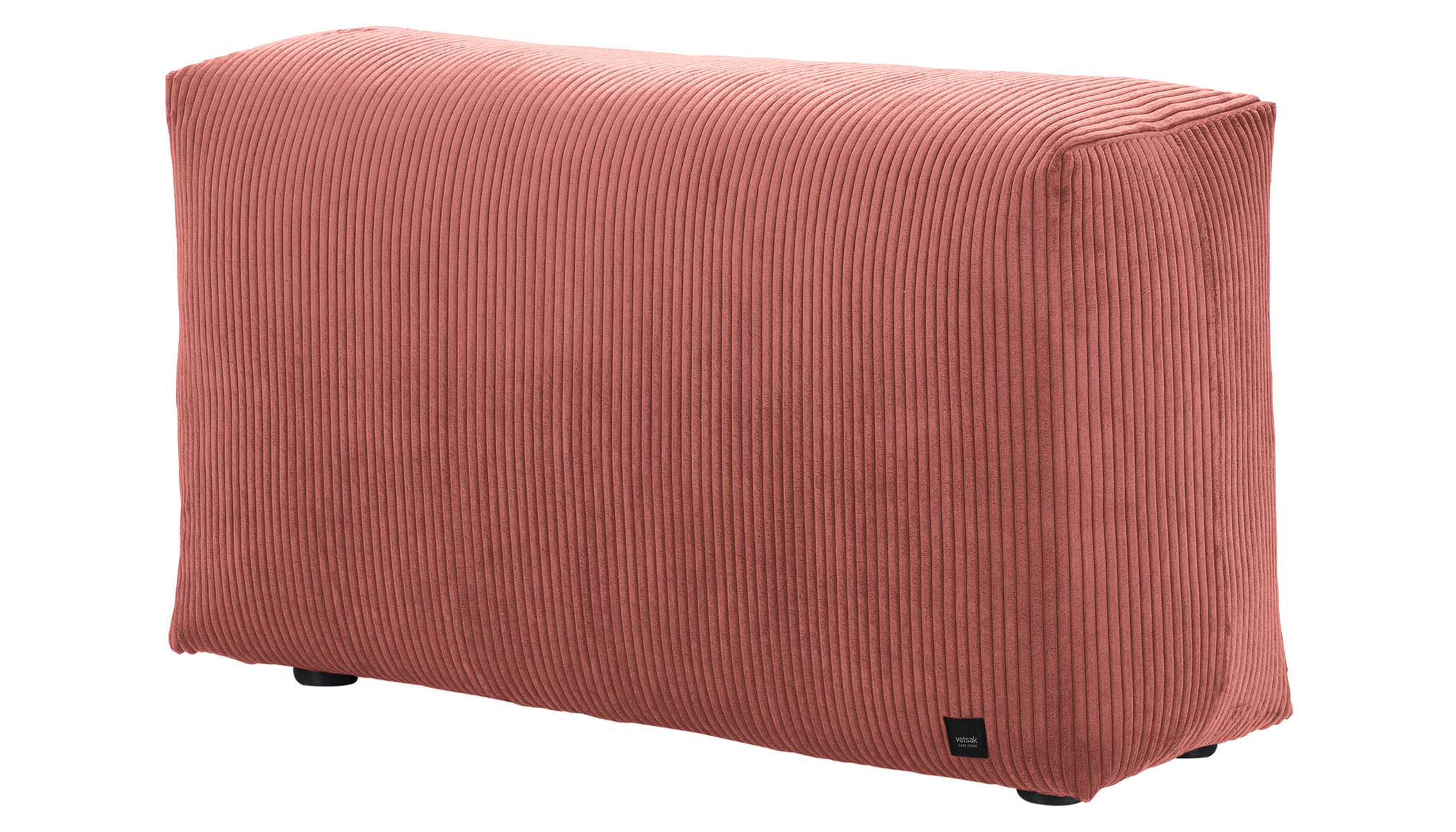 Sofa Side Cord Velours terracotta